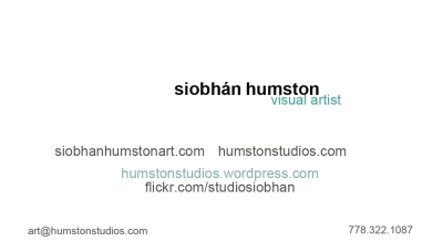 Business Card Back : horizontal