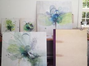 studio, work in progress